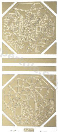 Christmas Picture 5  - Gold Peel Off  - 230 Peel Off Stickers Le Suh
