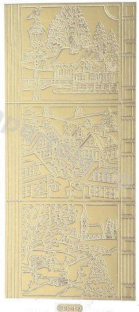 Christmas Picture 11  - Gold Peel Off - 234 Peel Off Stickers Le Suh