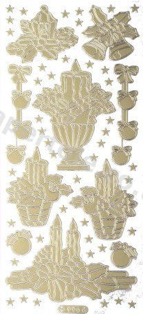 Christmas Picture 14 - Gold Peel Off -  238 Peel Off Stickers Le Suh