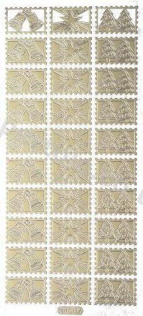 Xmas Bells- Stars Trees - Gold Peel Off -   239 Peel Off Stickers Le Suh