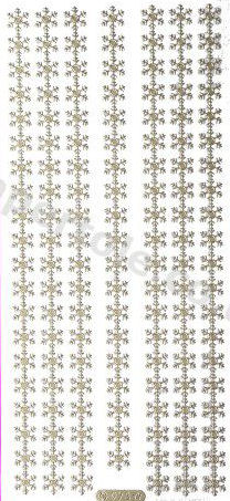 Christmas Borders 4  - Gold Peel Off - 244 Peel Off Stickers Le Suh