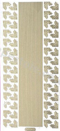 Xmas Corners and Borders 4  - Gold Peel Off - 249 Peel Off Stickers Le Suh
