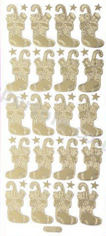 Christmas Stockings -  Gold Peel Off -  251 Peel Off Stickers Le Suh