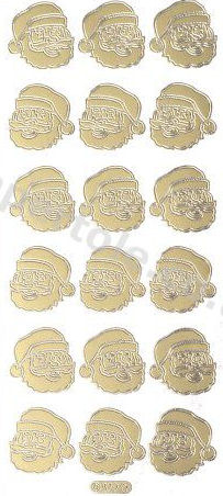 Father Christmas - Gold Peel Off -  252 Peel Off Stickers Le Suh