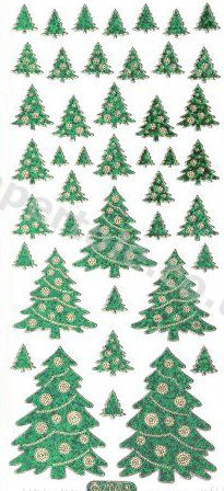 Christmas Trees - Green   263 Peel Off Stickers Le Suh