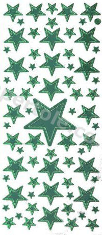 Christmas Stars   272 Peel Off Stickers Le Suh