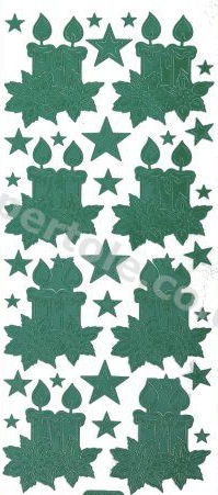 Christmas Candles   273 Peel Off Stickers Le Suh