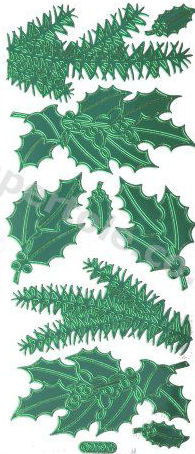 Christmas Holly - Christmas Ferns   282 Peel Off Stickers Le Suh