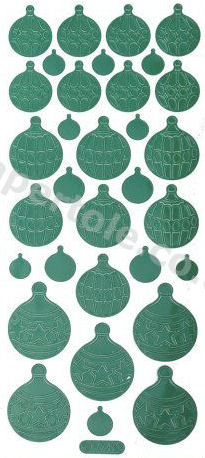 Christmas Baubles 1   283 Peel Off Stickers Le Suh