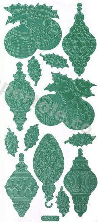 Christmas Baubles 2   284 Peel Off Stickers Le Suh