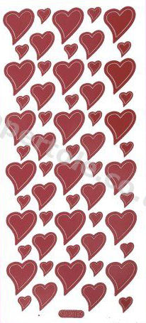 Hearts 1   305 Peel Off Stickers Le Suh