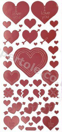 Hearts 2   306 Peel Off Stickers Le Suh