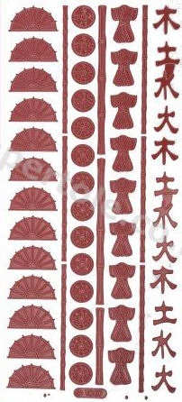 Oriental 4   318 Peel Off Stickers Le Suh