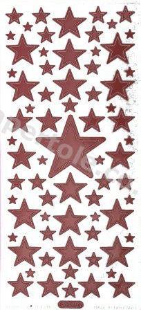 Christmas Stars   320 Peel Off Stickers Le Suh