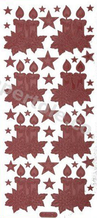 Christmas Candles   321 Peel Off Stickers Le Suh