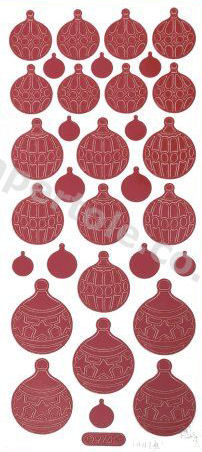 Christmas Baubles 1   329 Peel Off Stickers Le Suh