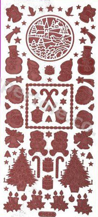 Christmas Various 2   339 Peel Off Stickers Le Suh