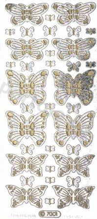 Butterflies   340 Peel Off Stickers Le Suh