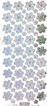 Flowers - Silver   346 Peel Off Stickers Le Suh