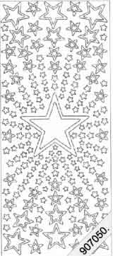 Star Burst - Silver   349 Peel Off Stickers Le Suh