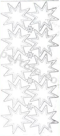 Stars Silver   357 Peel Off Stickers Le Suh
