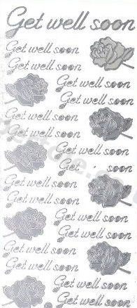 Get Well Soon   375 Peel Off Stickers Le Suh