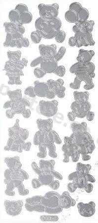 Teddy Bears   396 Peel Off Stickers Le Suh