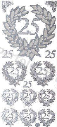25th Wedding Anniversary   411 Peel Off Stickers Le Suh
