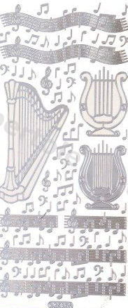 Harp and Music   429 Peel Off Stickers Le Suh