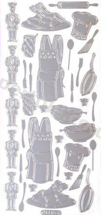 Chef - Cooking Utensils   430 Peel Off Stickers Le Suh