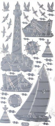 Fishing Boats - Lighthouse - Sailing Boat   443 Peel Off Stickers Le Suh