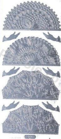 Oriental Fan   498  Peel Off Stickers Le Suh