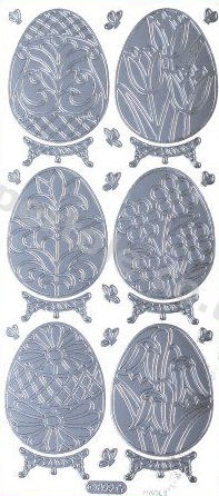 Large Floral - Easter Eggs   514 Peel Off Stickers Le Suh