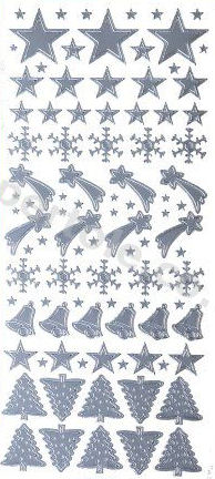 Xmas Stars - Bells - Trees   515 Peel Off Stickers Le Suh