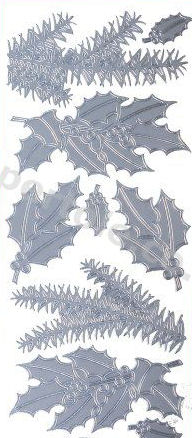 Christmas Holly - Christmas Ferns   527 Peel Off Stickers Le Suh