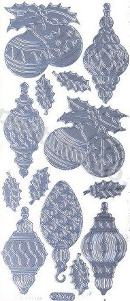 Christmas Baubles 2   528 Peel Off Stickers Le Suh