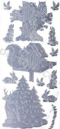 Christmas Animals   539 Peel Off Stickers Le Suh