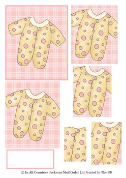Girls Baby Grow for a Bundle of Fun - PYRAMID SHEET - Part of the BABIES cd1 - OTHER MATCHING ITEMS - PT0142 PT0143 . -Jacksons mail Order
