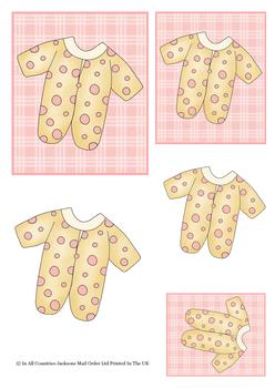 Girls Baby Grow for a Bundle of Fun - TOPPER SHEET - Part of the BABIES cd1 - OTHER MATCHING ITEMS - PT0141 PT0143 . -Jacksons mail Order