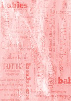 Pink Background Sheet - Babies / Children / Mother to Life / What is it to be a child - Wordings & more -Jacksons mail Order