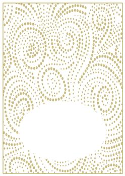 GOLD Swirl Dot Insert Sheet - to Match other items PT071, PT072, PT073- Can be purchased on its own too! . -Jacksons mail Order