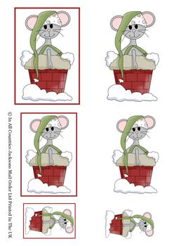 Christmas Mouse - Topper Sheet - . -Jacksons mail Order