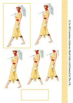 Sauve Vintage Fashionable Lady Topper - discVin1 . -Jacksons mail Order