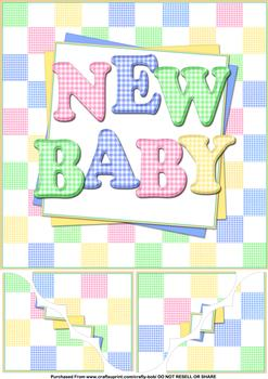 8x8 New Baby - Papertole Exclusive Topper Sheet . *