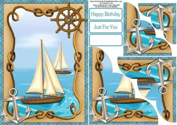 Sailing Ship - Papertole Exclusive Sheet . *