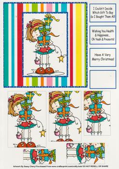 Humorous / Funny Christmas Card by Sassy Cheryl  - Papertole Exclusive Topper Sheet . -Jacksons mail Order