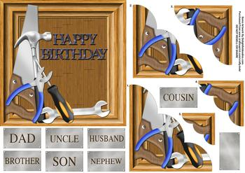 Happy Birthday Male Themed  - Papertole Exclusive Topper Sheet . *