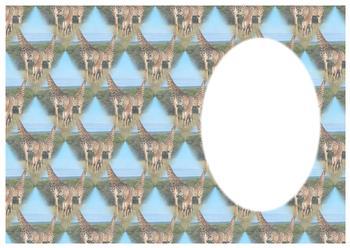 Giraffe on Safari INSERT SHEET - Part of the Wild Animal Range - OTHER MATCHING ITEMS - PTO101, PTO99, PTO100 - cd12.1c . -Jacksons mail Order