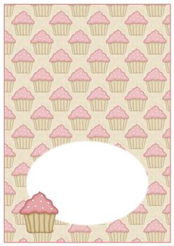 Cup Cake - INSERT SHEET - From The Penny Slider Range . -Jacksons mail Order