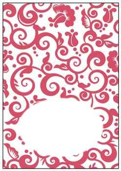 Red Swirl - INSERT SHEET - Part of the Vintage Fashion Disc 19 - to compliment PTO121 PTO122 PTO123 . -Jacksons mail Order